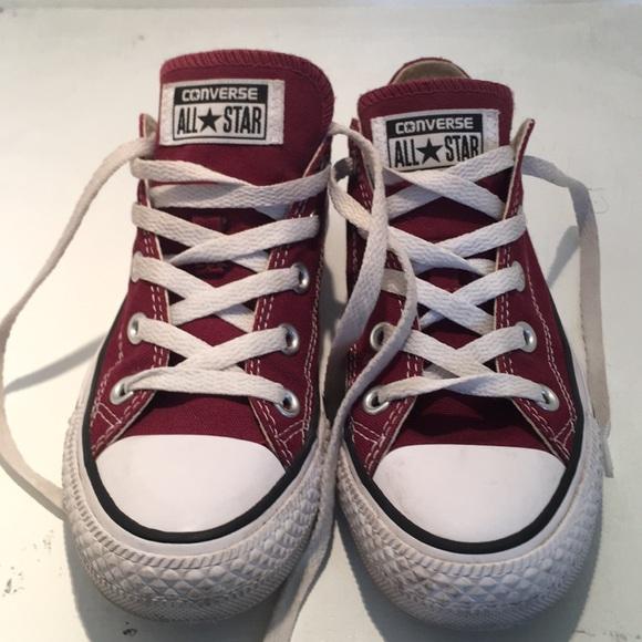 edc20a7c08b6 Converse Shoes - Converse maroon sneakers. Size men 4 women 6